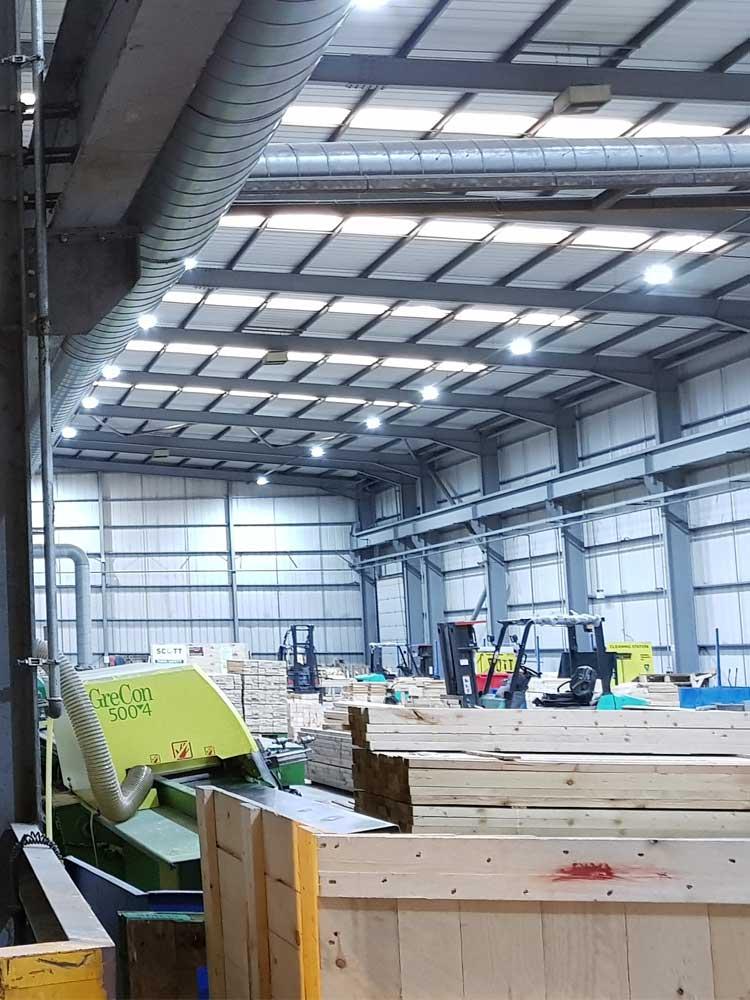 Timpsons Warehouse Lighting upgrade 1
